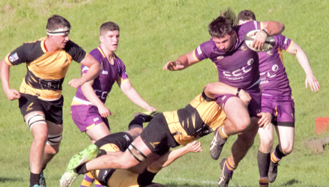 Marr came out on top when they took on Currie Chieftains at Malleny Park back in September. Image courtesy: Marr Rugby