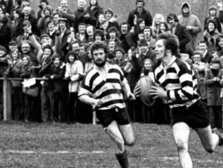 George Fairbairn in action for Kelso at Gala Sevens in 1974.