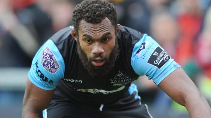 Leone Nakarawa has re-signed with Glasgow Warriors until the end of teh current season. Image: Fotosport/David Gibson
