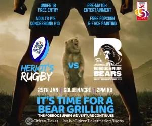 Heriot's v Bears
