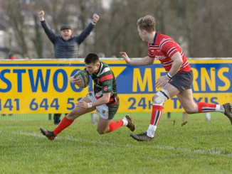 Jordan Craig scored for GHA against Aberdeen Grammar. Image: Colin Robinson