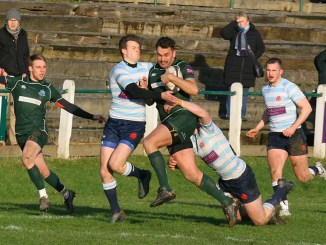 Hawick retained the Bill McLaren Shield and continued their push for a home play-off with a comfortable home win over Edinburgh Accies. Image: Kenny Baillie