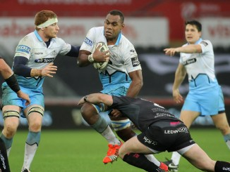 Leone Nakarawa in action during his previous stint at Glasgow. Image: David Gibson / Photosport