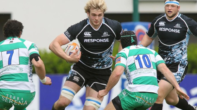 Richie Gray in action for Glasgow Warriors against Treviso in 2012, during his first spell at the club. Image: Fotosport / David Gibson