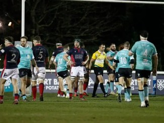Dejection for London Scottish as they slump to their fifth successive defeat in the league so far in 2020. With Nottingham the victors n this occasion. Image: Lodon Scottish
