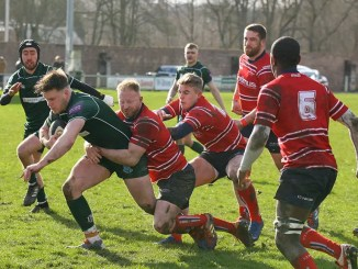 Andrew Mitchell carries for Hawick versus Aberdeen Grammar. Image: Kenny Baillie