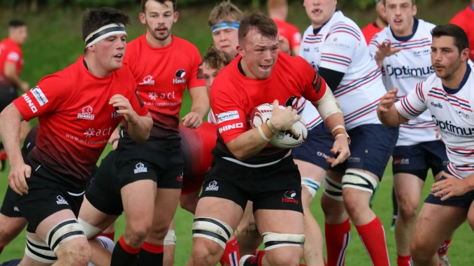 Ryan Sweeney in action for Glasgow Hawks versus Aberdeen Grammar earlier this season. Image: Anna Burns