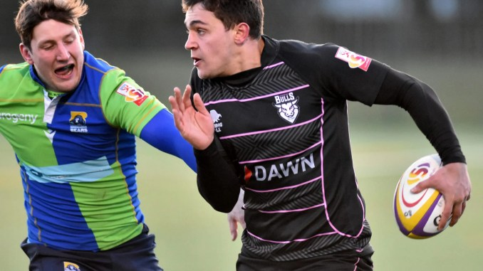 Tyler Beary scored one Ayrshire Bulls' six tries against Boroughmuir Bears. Image: Dave Patterson