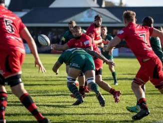 Lee-Roy Atalifo in action for Jersey Reds. Image courtesy: Edinburgh Rugby