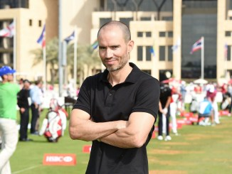 Andrew Cotter during the Abu Dhabi HSBC Golf Championship at the Abu Dhabi Golf Cub