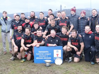 Biggar were crowned champions of National One three weeks ago but have now had promotion into the Premiership snatched away. Image: Nigel Pacey