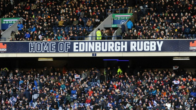 Scottish Rugby are hoping to be given permission to allow a crowd of 1,000 to the Edinburgh versus Glasgow Warriors game on 22nd August. Image: Fotosport/David Gibson