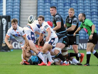 Edinburgh are targeting a win versus Glasgow Warriors on Friday night, but the following weekend's PRO14 play-off clash against Ulster is the priority. Image: FOTOSPORT/DAVID GIBSON