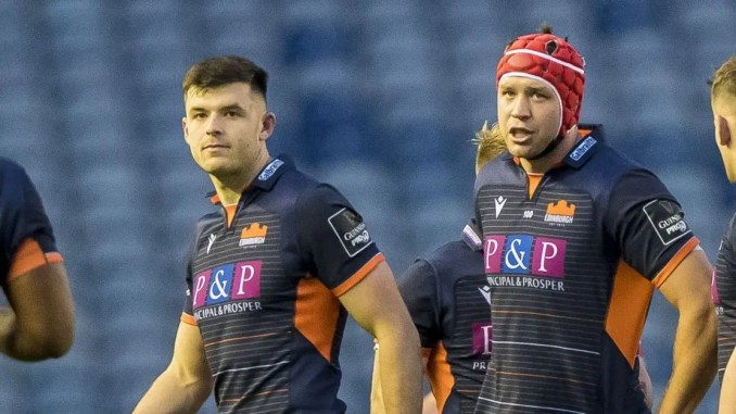 Blair Kinghorn and Grant Gilchrist have both been named in the PRO14 Dream Team. Image: © Craig Watson - www.craigwatson.co.uk