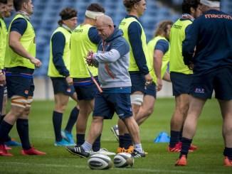 Edinburgh head coach Richard Cockerill putting his team through their paces this week. Image: © Craig Watson - www.craigwatson.co.uk