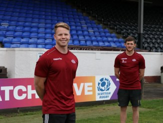 James Dalgleish and Gregor Christie have signed with Watsonians ahead of the Super6 Sprint series which gets going at the end of October. Image: Graham Gaw