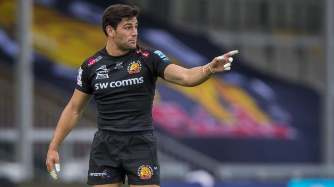 Sam Hidalgo-Clyne is happy to focus on establishing himself as first choice scrum-half at Exeter Chiefs after failing to make Scotland's Autumn series training squad. Image: © Craig Watson - www.craigwatson.co.uk