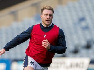 Stuart Hogg during Scotland's Captain's Run this [Saturday] afternoon. Image: © Craig Watson - www.craigwatson.co.uk