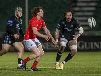Ben Healy kicked two conversions and a penalty when Munster defeated Glasgow at Scotstoun two weekends ago. Image: © Craig Watson - www.craigwatson.co.uk