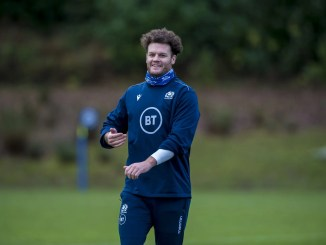 Duncan Taylor at training this week ahead of Saturday's Autumn Nations Cup 3rd/4th place play-off against Ireland in Dublin. Image: © Craig Watson - www.craigwatson.co.uk