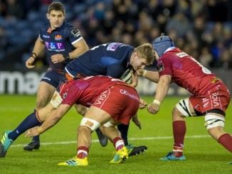 Jamie Hodgson in action for Edinburgh against the Scarlets back in 2018. Image: ©Craig Watson