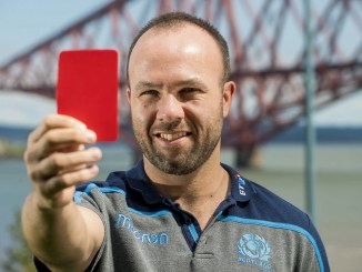 Mike Adamson broke Scotland's long streak without an international referee. Image: © Craig Watson - www.craigwatson.co.uk