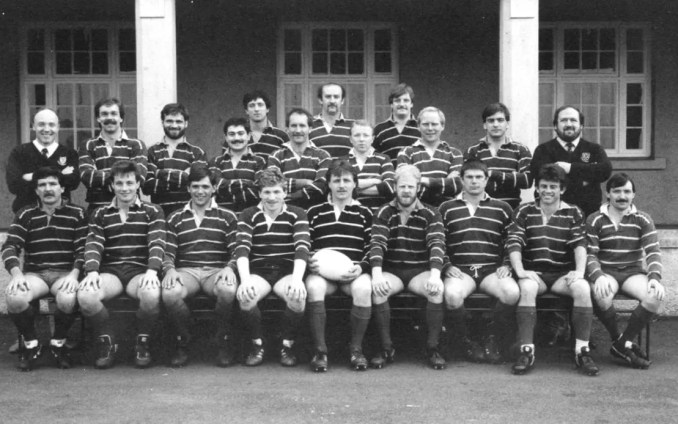 Musselburgh RFC's team that won promotion in 1986-87