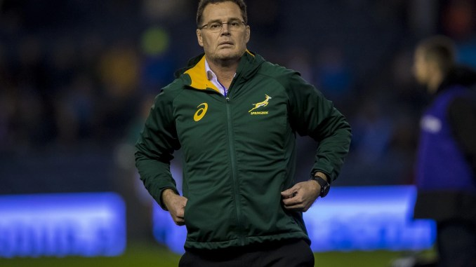 Rassie Erasmus stepped up to Director of Rugby in South Africa after leading the Springboks to glory at the 2019 World Cup. Image: ©Craig Watson - www.craigwatson.co.uk