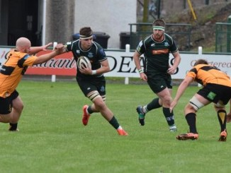 Hawick got their season off to a flying start with a hard-earned win over Currie Chieftains at Mansfield Park. Image: Malcolm Grant