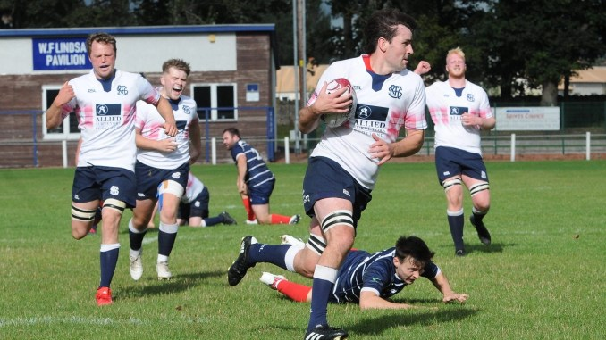 Selkirk captain Ewan McDougall is at No8 after a try-scoring performance in victory over Musselburgh. Image: Grant Kinghorn