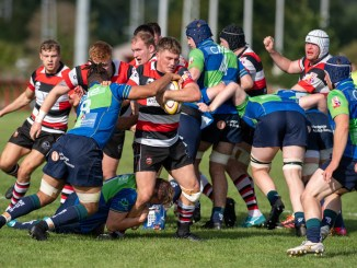 Pack power was key to Stirling County's last-gasp win over Boroughmuir Bears. Image: Bryan Robertson