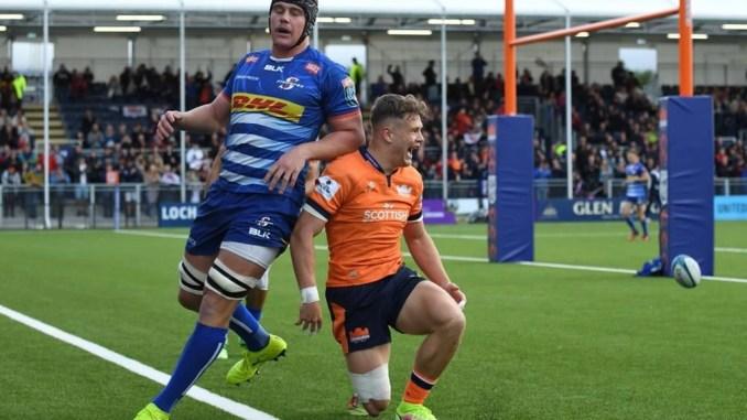 Darcy Graham scored Edinburgh's opening try. Image: Mark Runnacles