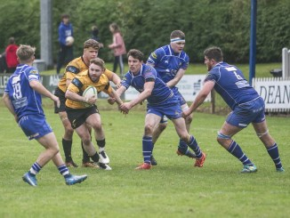 Currie Chieftains centre DJ Innes scored one of his team's four tries against Jed-Forest at Riverside Park. Image: Bill McBurnie