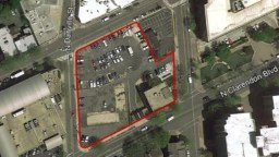 Aerial map of the Courthouse West site
