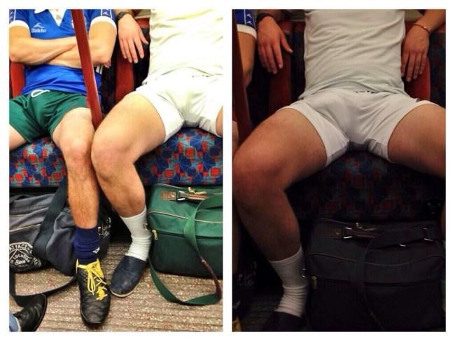 Paquets 2 mecs dans le métro grosses couilles