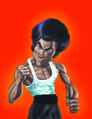 Digital Caricature of Bruce Lee