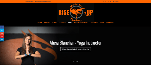 Rise Up Martial Arts Website