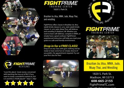 Brochure and Business Card Design for Martial Arts Training Center