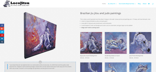 LocoJitsu Brazilian Jiu Jitsu and Judo Art E-Commerce Website