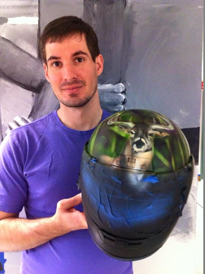 airbrushed-motorcycle-helmet-deer-portrait-of-artist
