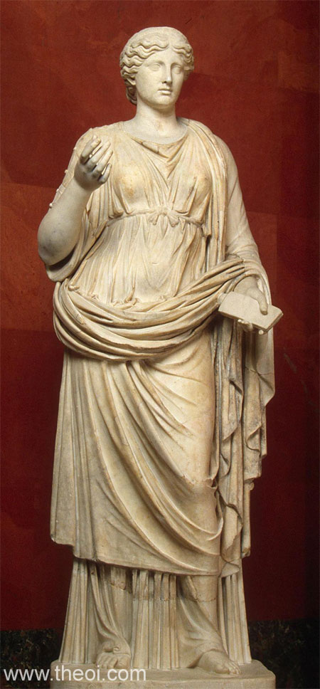 Image of the goddess Calliope