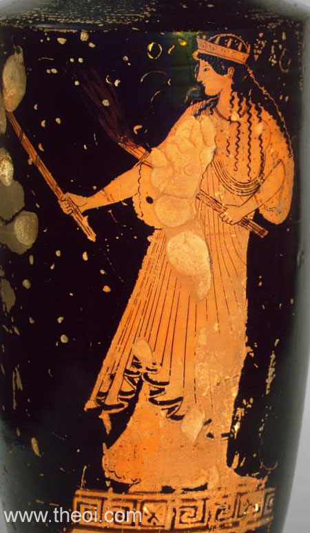 Hecate | Attic red figure vase painting