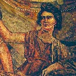 Mnemosyne the Titan Goddess of Memory | Picture from a Greco-Roman mosaic, the woman is labelled Mnemosyne