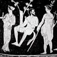 Apollo & Marsyas | Greek vase painting