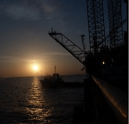 5. Sunset over the Iran rig in Caspian.p