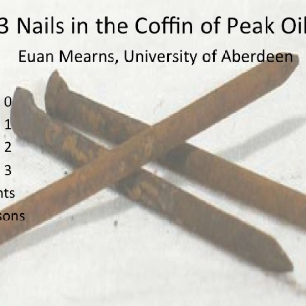 Three Nails in the Coffin of Peak Oil