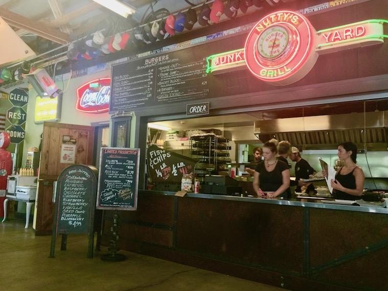 Nutty's Junk Yard Grill in Arlington, Washington
