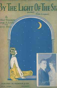 By The Light Of The Stars Vintage Sheet Music 1925 Art Deco Rogers and Allen Arthur Sizemore