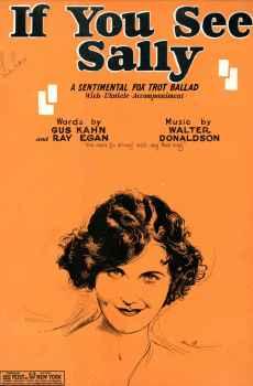If You See Sally Sheet Music Vintage 1927 Fox Trot Ballad Gus Kahn Ray Egan John Ranck Cover