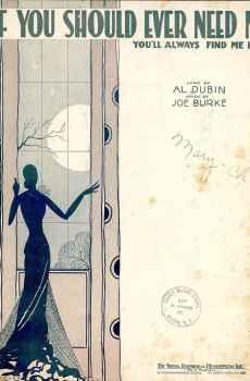 If You Should Ever Need Me You'll Always Find Me Here Sheet Music Vintage 1931 Al Dubin Joe Burke